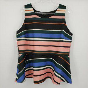 Eloquii Sleeveless Blouse Size 24 Multicolor S